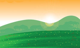 Meadow green banner Stock Photo