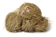 Meadow hay stack isolated on white Stock Photography