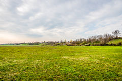 Meadow And Hill Landscape. Beautiful Meadow and Hill Landscape Royalty Free Stock Photo
