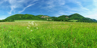 Meadow and hills Royalty Free Stock Photo