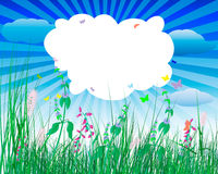 Meadow illustration Royalty Free Stock Photo