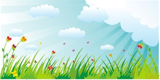 Meadow illustration Stock Photo