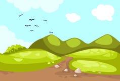 Meadow landscape Stock Image