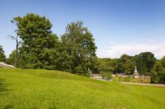 Meadow landscape. Peterhof. St. Petersburg. Russia Royalty Free Stock Photo