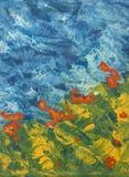 meadow malowaniu niebo Zdjęcie Stock
