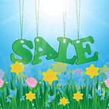 Meadow and message seasonal sales Stock Image
