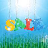 Meadow and message seasonal sales Royalty Free Stock Images