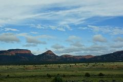Meadow and mountain landscape in Utah royalty free stock images