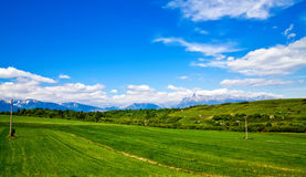 Meadow And Mountains Royalty Free Stock Images