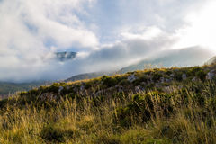 Meadow in the mountains at dawn in Sicily Stock Photo