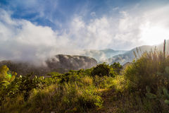 Meadow in the mountains at dawn in Sicily Royalty Free Stock Images