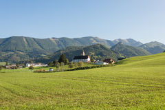 Meadow in the Mountains, Grossraming, Upper Austria Stock Image