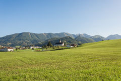 Meadow in the Mountains, Grossraming, Upper Austria Royalty Free Stock Images