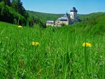 Meadow near Karlstejn Stock Image