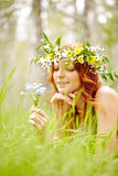 Meadow relaxation in nature Royalty Free Stock Photography