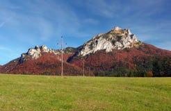 Meadow and Rozsutec peak, Mala Fatra Stock Photos