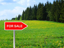 Meadow for sale Stock Photography