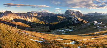 Meadow on Seceda plateau in Val Gardena, Italy, Europe Stock Images