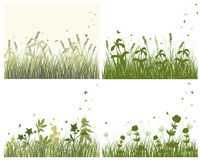 Meadow silhouette set Stock Photography