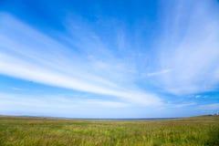 Meadow sky stock photo