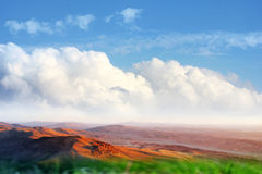 Meadow and sky Stock Photography