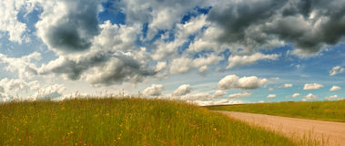 Meadow and sky 2 Royalty Free Stock Photography