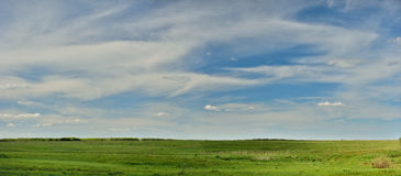 Meadow and sky panorama Royalty Free Stock Photos