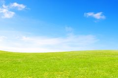 Meadow and sky. During sunny day Stock Images