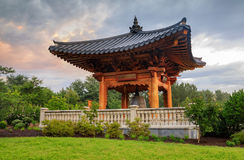 Meadowlark Regional Park Fairfax County Virginia. The Korean Bell is a cultural landmark at Meadowlark Gardens, one of Fairfax County Virginia& x27;s regional Royalty Free Stock Photos