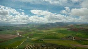 Meadowns, semeado e paisagem da trilha Fotografia de Stock Royalty Free