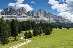 The meadows of Colbleggio, Karersee - Dolomites Stock Photo