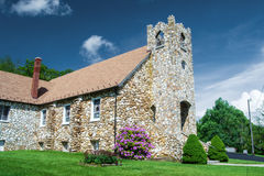 Meadows of Dan - Slate Mountain Presbyterian Church, Meadows of Dan, Virginia. MEADOWS OF DAN, VA - MAY 19: Slate Mountain Presbyterian Church founded 1932 Royalty Free Stock Images
