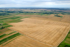 Meadows and fields. Aerial image. Rivne region, Ukraine Stock Images