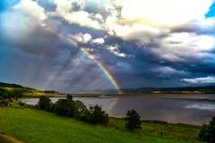 Rainbow Inverness Scotland, fantastic mountain scenery royalty free stock photos