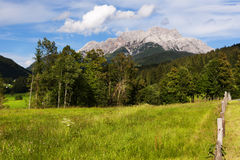 The Meadows and the Loferer Skihörndl near Wiesensee, Austria Royalty Free Stock Photography