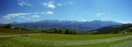 Meadows and mountains Royalty Free Stock Images