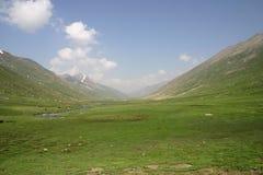Meadows of Mullah-ke-besti. Meadows in the way to Dudipatsir lake, at Mullah-ke-besti Stock Images