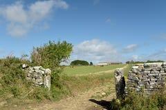 Meadows near Dancing Ledge Stock Photo