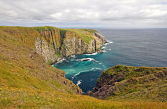 Meadows and Ocean Cliffs Royalty Free Stock Photography