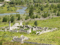 Meadows and ruins landscape in Lleida Royalty Free Stock Photography