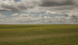Meadows - Salisbury plain/the clody skies. Stock Images