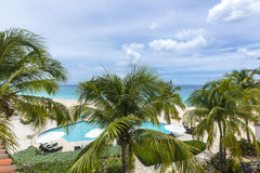 Meads Bay in Anguilla Beach, Caribbean Royalty Free Stock Photos