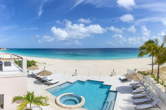 Meads Bay in Anguilla Beach, Caribbean. Best Anguilla Beaches in Caribbean Stock Photography