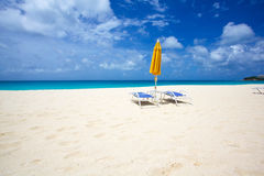 Meads Bay Anguilla. Beautiful beach on Caribbean island of Anguilla Stock Photography