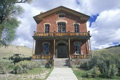 Meads Hotel, Bannack MT, Ghost Town Stock Photo