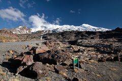 Meager landscape at Mount Ruapehu Royalty Free Stock Photos