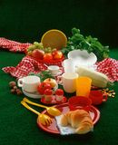 Meal. Today is picnic time but in studio stock photo