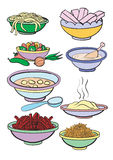 Meal. Set from different dietary meal stock illustration
