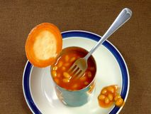 Meal of Baked Beans Royalty Free Stock Photo