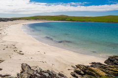 Meal Beach Shetland Scotland. View of Meal Beach, West Barra, Shetland, Scotland on a summers day Royalty Free Stock Images